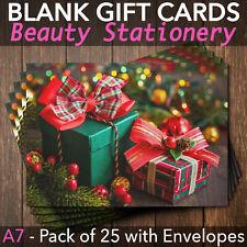 Christmas Gift Vouchers Blank Beauty Salon Card Nail Massage x25 A7+Envelopes