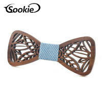 Handmade Classic Men's Wedding Wooden Bow Tie Fashion Party Wood Tuxed Necktie