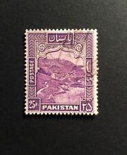 Pakistan SG 43b 25R Violet P13 Fine Used KGVI Very Light CDS.