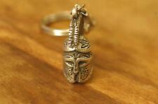 Ancient Greek Themed Keyring - Athenian Helmet (Owl design) Silver Zamac