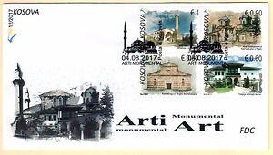 Kosovo Stamps 2017. Monumental Art, Religious. FDC Set Sheet MNH
