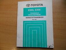 Werkstatthandbuch Toyota Transaxle Schalt Getriebe E355 E356 - 05.2001 RM867M