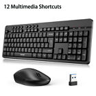TECKNET 2.4GHz USB Wireless Keyboard and Mouse Combo Set Full Size For PC Laptop