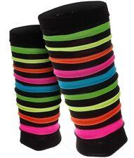 Rainbow Neon Stripes Leg Warmers / Dancewear