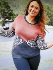 Maurices~New With Tags~Sienna animal print splice long sleeve pullover~Plus 3X