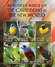 Bequia-2016 Beautiful Carribean Birds on stamps Sheet of 6 MNH