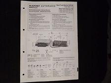 ORIGINALI service manual BLAUPUNKT AUTORADIO NEW YORK STEREO CR/CR US