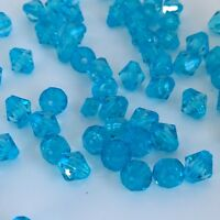 100X Blue Bicone Bead Pieces Jewellery Making Beads 8mm Crystal Resin Faceted