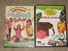 2 KIDS DVD CRAZY CRAFTS JUNGLE ANIMALS    WHERE YOU ARE THE START MRS. MURPHY'S