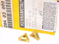 NEW SURPLUS 10PCS.  KENNAMETAL  TNMS 332  GRADE: KC810  CARBIDE INSERTS