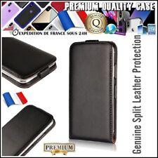 Etui Coque Housse Clapet Cuir Genuine Leather Flip Case iPhone Huawei Nokia ...