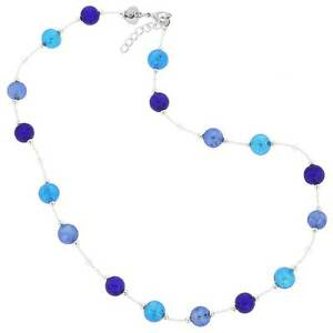 GlassOfVenice Murano Glass Beatrice Necklace - Blue
