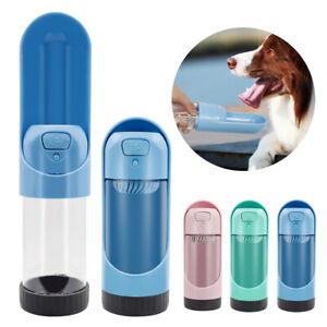 Portable Dog Water Bottle Pet Travel Water Dispenser Outdoor Drink Bowl Feeder