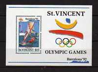 16087) st Vincent 1992 MNH S/S Olympic Games Barcelona