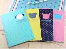 Lot 4pcs Kawaii Animal Cat Polka Dot Notebook Stationery Notepad Cute Memo Pad