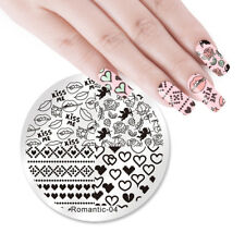 NICOLE DIARY Nail Art Stamping Plates Valentine's Day Stamp Template Romantic-04