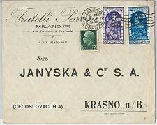 ITALIA REGNO storia postale: DECENNALE ANESSIONE FIUME su  BUSTA  1934