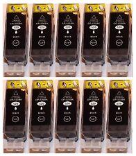 10x schwarz Druckerpatronen für Canon PIXMA IP3600 4600 MP-540 550 620 630 640