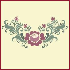 Rosemaling Rose - 2 Stencil- Swedish Kurbits - The Artful Stencil