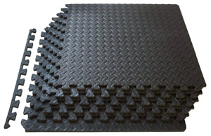 ProSource Puzzle Exercise Mat, EVA Foam Interlocking Tiles-Protective Crossfit