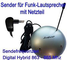 Sender für Funk Lautsprecher + Netzteil 12V