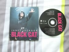 JANET JACKSON BLACK CAT USA 6 TRACK REMIX CD CARD DIGIPAC PROMO