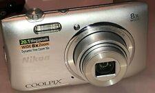 Nikon Coolpix  S3600 8x zoom 20.1 Megapixels 30003689