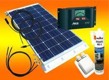 100 Watt Wohnmobil Solaranlage 12 Volt Set mit Steca LCD Laderegler