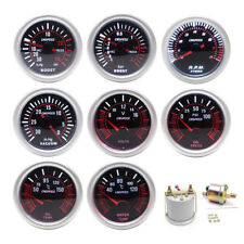 2'' 52mm Car 12V Boost Vacuum Water Oil Fuel Temp Pressure Tachometer Volt Gauge