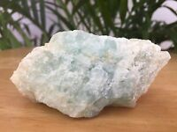 Raw Aquamarine Mineral Specimen Rough Aquamarine Crystal Gemstone Reiki Chakra.