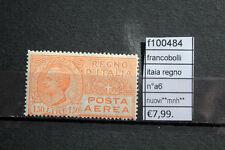 FRANCOBOLLI ITALIA REGNO N°A6 NUOVI**  (F100484)