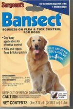 Sergeants Bansect Flea & Tick Control Treatment Medicine For Dog Over 33 Lbs
