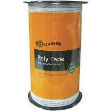"""Gallagher White 1/2"""" X 656' Electric Fence 5 Steel Strand Poly Tape G62304"""