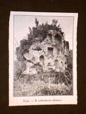 La Necropoli Etrusca di Vejo Il Colombaro etrusco