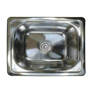 Single Bowl Bar Kitchen Laundry Sink Small Inset Stainless Steel Tub SE4 19L
