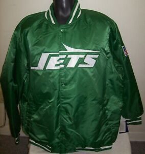"""NEW YORK """"JETS"""" Starter Throw back snap down jacket GREEN 3X NFL Patch"""