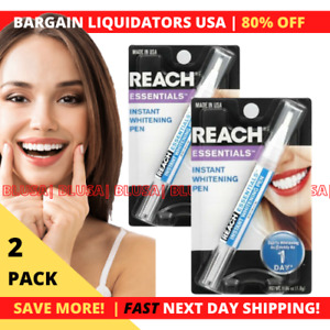 Reach Essentials Instant Teeth Whitening Pen. MADE IN USA | Fast Shipping | 2 PK