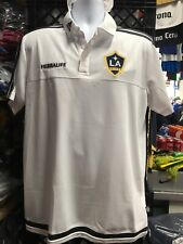 Adidas Los Angeles Galaxy Polo Shirt White Gray 10/20 Size Mans Large Only