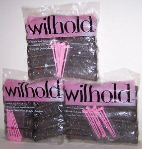 Vintage Wilhold Curlers 3 Packs 30 Medium Brush Rollers & Picks New Sealed
