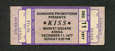 1977 Kiss AC/DC Unused concert ticket Indianapolis Bon Scott Let There Be Rock