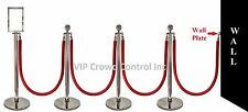 "ROPE STANCHION, 10 PCS SET, CROWN TOP, MIRROR POLISH S.S. 12"" DOMED BASE"