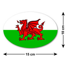 Welsh Dragon Car Sticker / Decal - The National Flag of Wales - Baner Cymru
