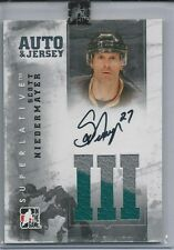 Scott Niedermayer 2012-13 ITG Superlative Jerseys Autographs Silver # AJSN /20