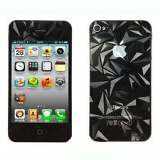 3pair New 3D Diamond Screen Protector Front + Back Cover Film for iPhone 4 4G 4S