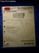 Sony Service Manual TA EX66 /EX77 Amplifier (#4355)