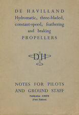 DE HAVILLAND HYDROMATIC PROPELLERS / PUBLICATION A3HFB