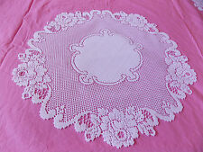 HERITAGE LACE WHITE 20 INCH VICTORIAN ROSE DOILY BEAUTIFUL ITEM 2941