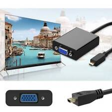 Micro HDMI TO VGA Video HDMI Type-D Adapter Cable 1080P For Tablets Camera TV PC