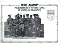 FEUILLET PHILATELIQUE  SUR L'AS DE L'AVIATION RENE FONCK