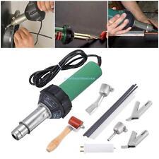 1500w Plastic Hot Air Heat Gun Gas Welder w/ Triangle/Round Speed Welding Nozzle